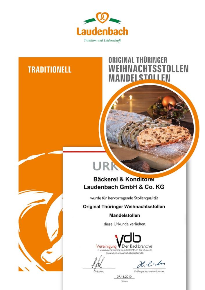 Original Thüringer Christstollen mit Mandeln – ungebuttert